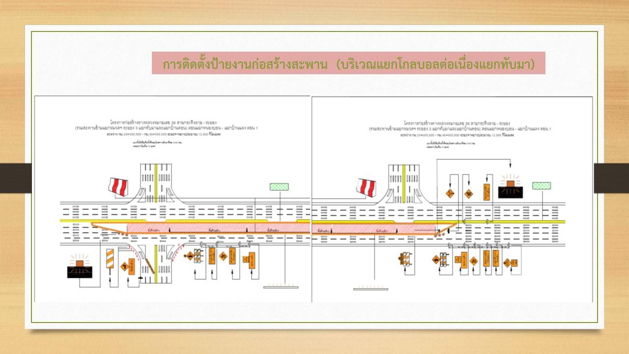 โครงการก่อสร้างทางหลวงหมายเลข 36 สาย กระทิงลาย - ระยอง (รวมสะพานข้ามแยกหมวดฯระยอง 3 แยกทับมาและแยกบ้านดอน) ตอน แยกหนองบอน - แยกบ้านแลง ตอน 1 โดยมี บริษัท เทิดไท แอนด์ โค จำกัด เป็นผู้รับจ้าง #ผู้ควบคุมงาน นายพูนศักดิ์ สิริสมบูณณ์  เบอร์โทรศัพท์ 08 2596 6696 , 08 7730 6771